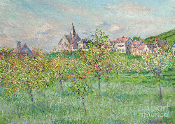 Wall Art - Painting - Spring In Giverny, Afternoon Effect, 1885 by Claude Monet