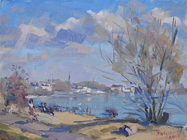 Lake House Painting - Spring In Gratwick Waterfront Park by Ylli Haruni