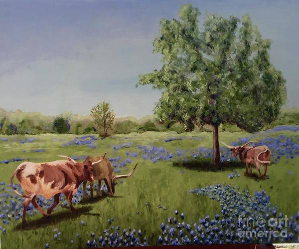 Wall Art - Painting - Spring In Texas by Cindy Brown