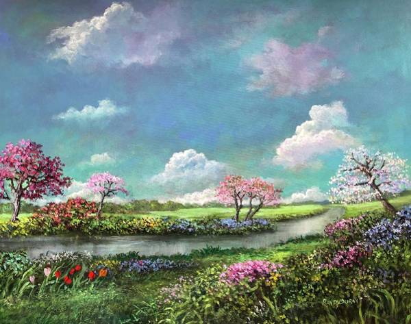 Painting - Spring In The Garden Of Eden by Randy Burns