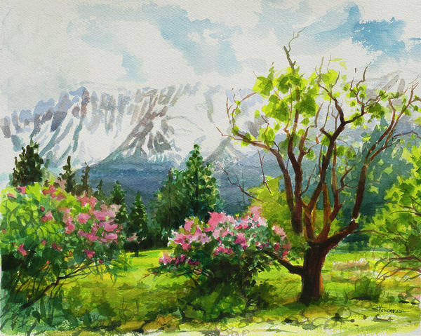Beauty In Nature Wall Art - Painting - Spring In The Wallowas by Steve Henderson