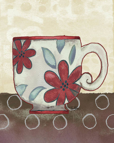 Wall Art - Painting - Spring Into Coffee II by Mary Beth Baker
