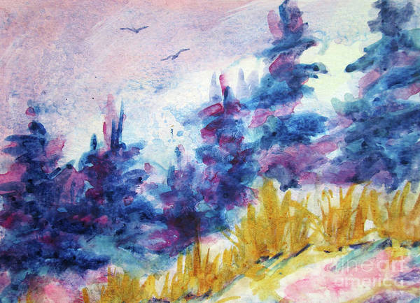Wall Art - Painting - Spring Landscape 2019 by Kathy Braud