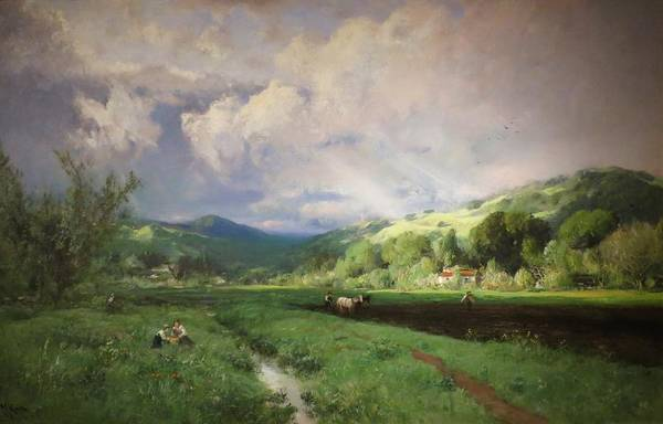 Wall Art - Painting - Spring Landscape - Spring In Marin County by William Keith