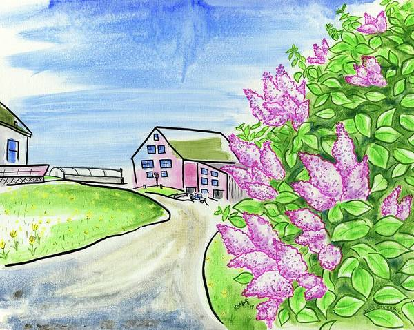 Wall Art - Painting - Spring Lilac by Kevin Cameron