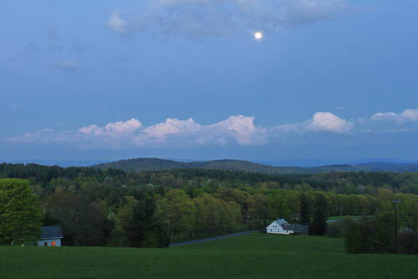 Wall Art - Photograph - Spring Moon Over The Countryside by John Burk