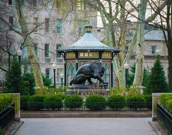 Photograph - Spring Morning In April - Rittenhouse Square by Bill Cannon