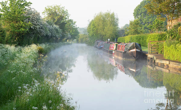 Photograph - Spring Morning On The Oxford Canal  by Tim Gainey