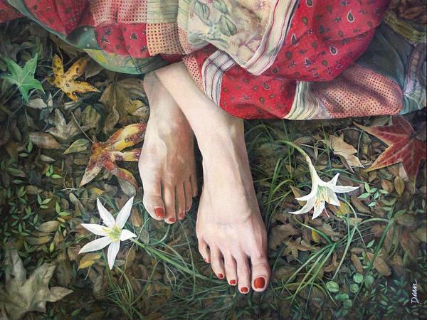 Clovis Painting - Spring Nymph by Clovis Rusk