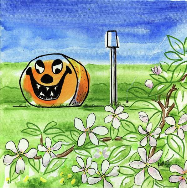 Wall Art - Painting - Spring-o-ween by Kevin Cameron