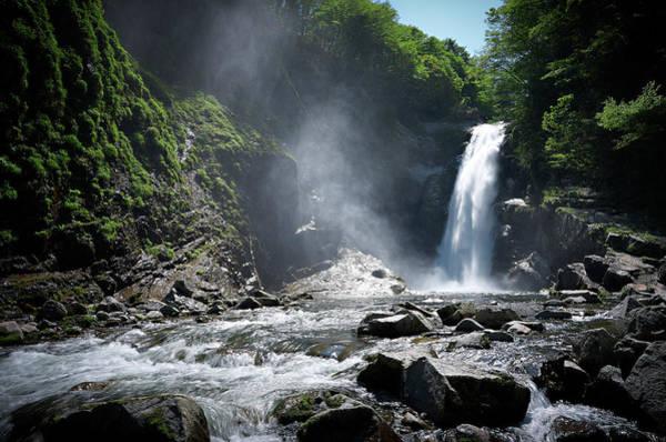 Scenery Photograph - Spring Of Akiu-waterfall by Hirominnovation-photograph