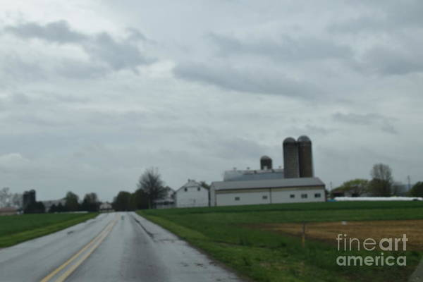 Photograph - Spring Storm Clouds Roll Over An Amish Farm by Christine Clark