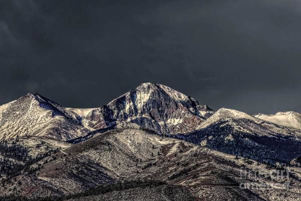 Photograph - Spring Strom Brewing Over Longs Peak by Jon Burch Photography