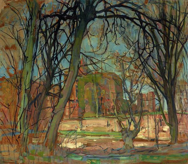 Wall Art - Painting - Spring Sun, Castle Ruin, Brederode by Piet Mondrian