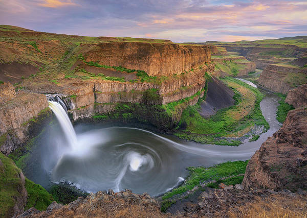 Photograph - Spring Sunset At Palouse Falls by Kristen Wilkinson