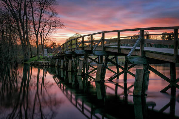 Photograph - Spring Sunset At The Old North Bridge by Kristen Wilkinson