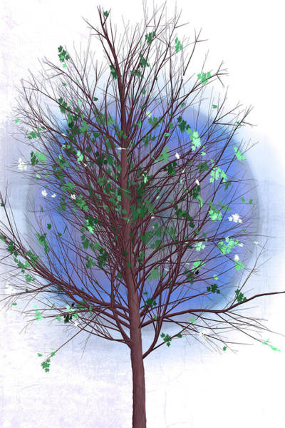 Digital Art - Spring Tree At Last Frost by Debra and Dave Vanderlaan