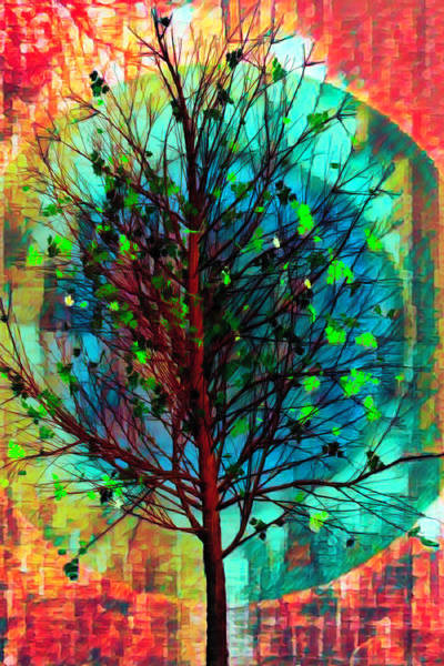 Digital Art - Spring Tree In African Art by Debra and Dave Vanderlaan