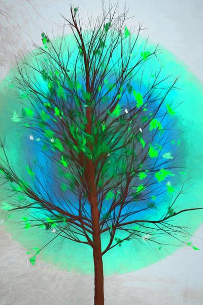 Digital Art - Spring Tree In Beachy Colors by Debra and Dave Vanderlaan