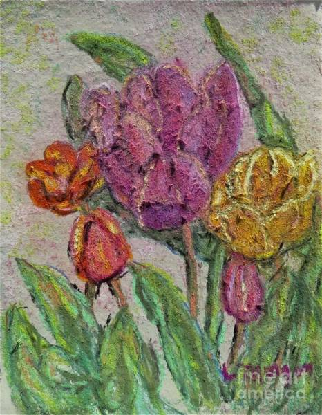 Painting - Spring Tulips by Laurie Morgan