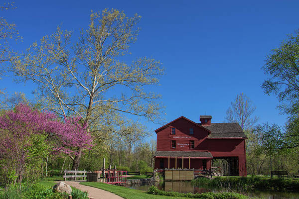 Springtime At Bonneyville Mill Art Print