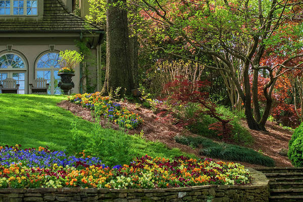 Wall Art - Photograph - Springtime At The Gibbs Gardens Manor House by Mary Ann Artz