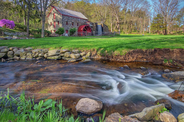 Springtime At The Grist Mill Art Print