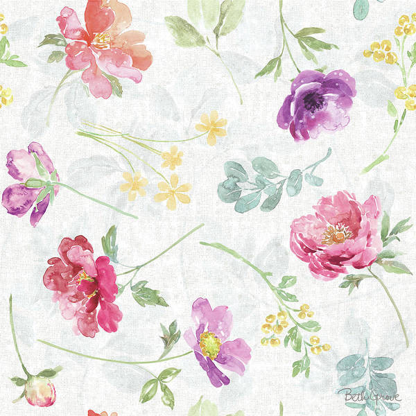 Wall Art - Painting - Springtime Bloom Pattern I by Beth Grove