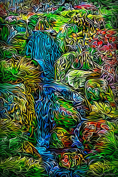 Digital Art - Springtime Flowing Waters by Joel Bruce Wallach