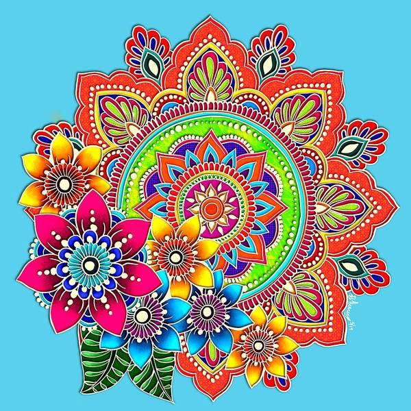 Painting - Springtime Mandala by Becky Herrera