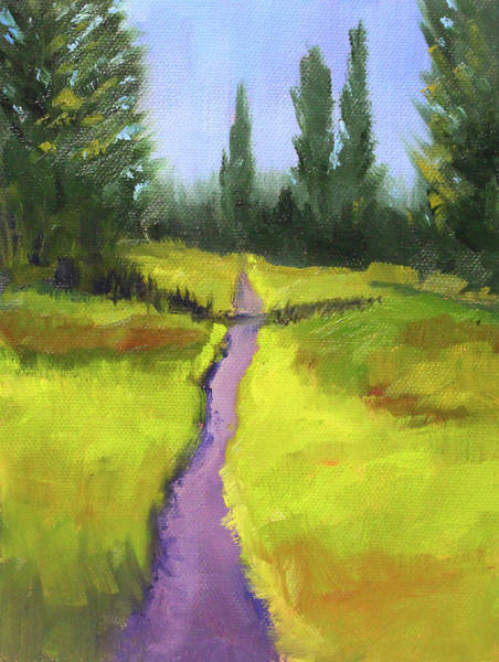 Wall Art - Painting - Springtime Mountain Trail by Nancy Merkle