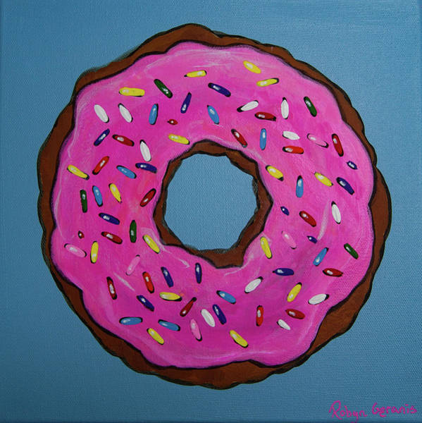 Doughnut Painting - Sprinkled With Love by Robyn Geranis