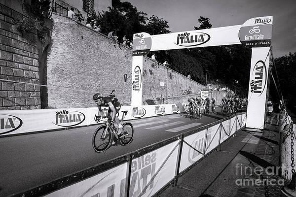 Wall Art - Photograph - Sprinter - A Cyclist Sprint Through The City Of Rome by Stefano Senise