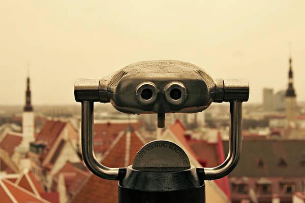 Binoculars Photograph - Spy Viewing Machine by Eva Millan Photography