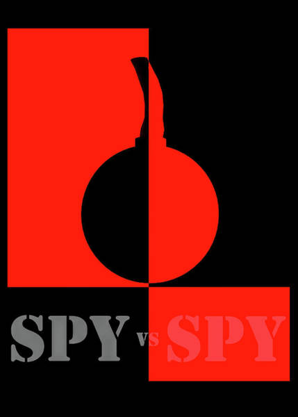 Intelligence Digital Art - Spy Vs Spy by Bob Orsillo