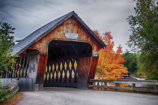 Photograph - Squam River Covered Bridge In October by Jeff Folger