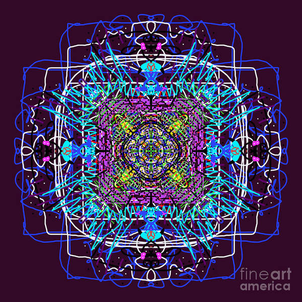 Painting - Square Abstract Mandala by Catherine Lott