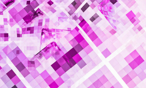 Digital Art - Square O Rama Pink by Don Northup