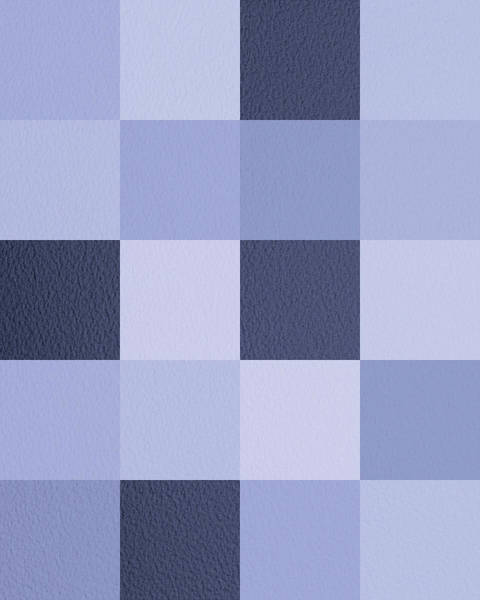 Wall Art - Digital Art - Squares Blue - Vertical by Peter Tellone