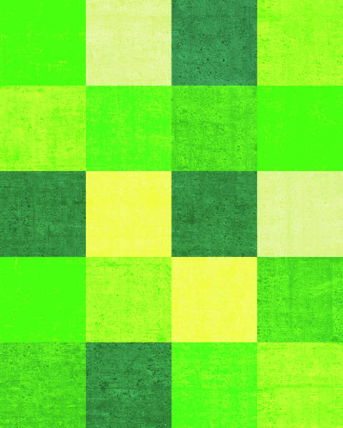 Wall Art - Digital Art - Squares Green - Vertical by Peter Tellone