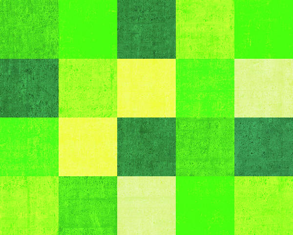 Wall Art - Digital Art - Squares Green - Horizontal by Peter Tellone