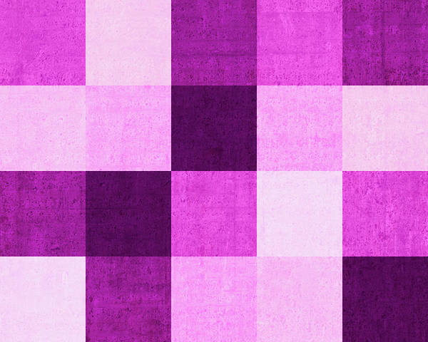 Wall Art - Digital Art - Squares Magenta -horizontal by Peter Tellone