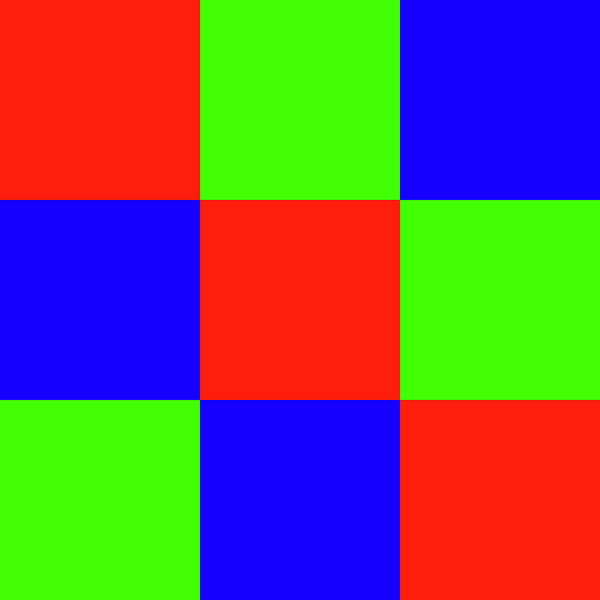 Digital Art - Squares Of Red And Blue And Green by Bill Swartwout Photography