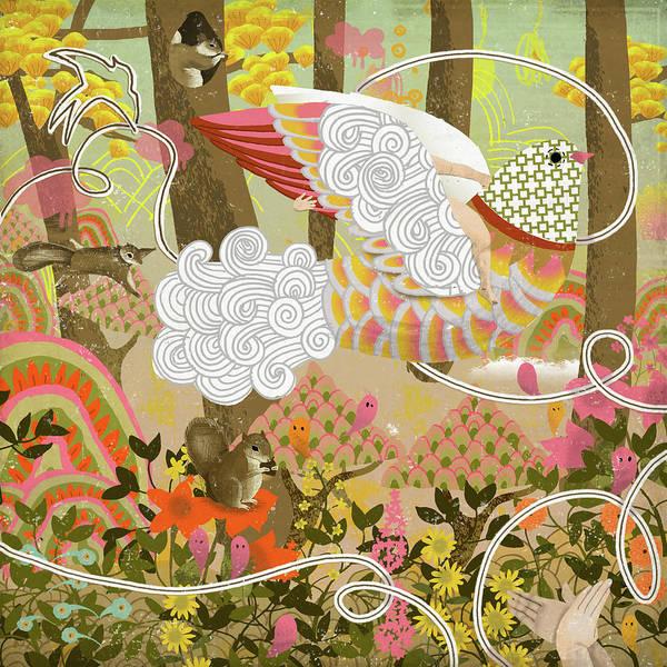 Color Image Digital Art - Squirrels by Luciano Lozano