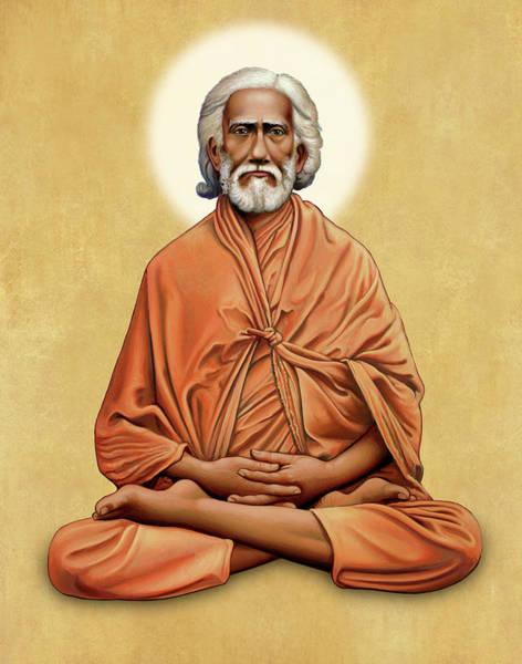 Sri Yukteswar Giri On Gold Art Print