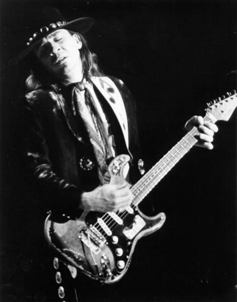 Stratocaster Photograph - Srv Performing In Davis by Larry Hulst