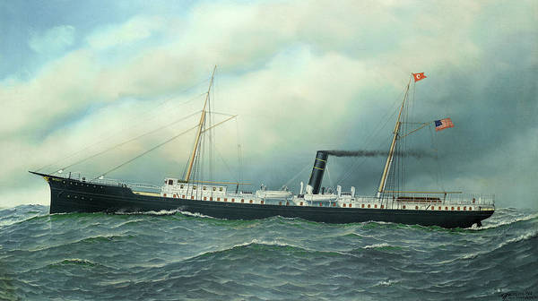 Wall Art - Painting - Ss Hudson Of The Cromwell Line, New York by Antonio Nicolo Gasparo Jacobsen