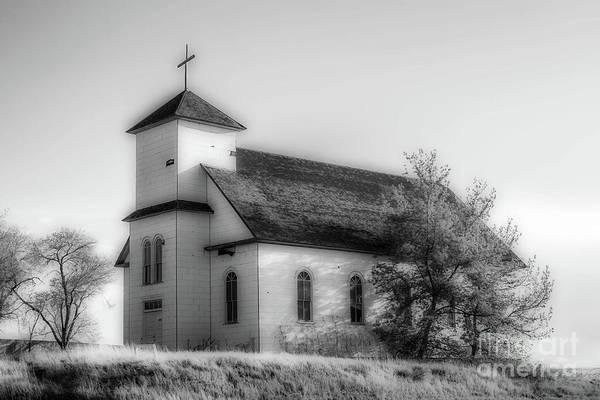 Photograph - St. Agnes Church - Bw by Tony Baca