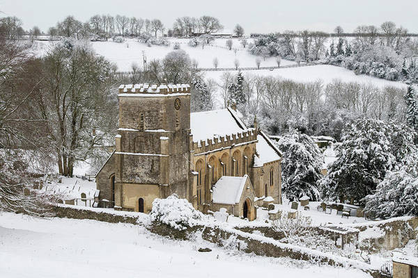 Wall Art - Photograph - St Andrew's Church Chedworth In Winter by Tim Gainey
