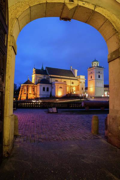 Wall Art - Photograph - St Anne Church In Warsaw At Night by Artur Bogacki